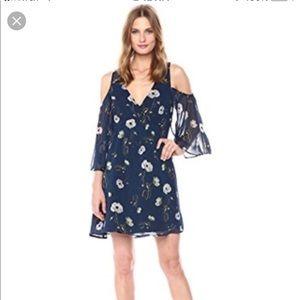 BB Dakota Rylie Floral Print cold shoulder dress